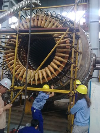 Doing inspection of 660MW tURBOGENERATOR AT dec,dEYANG