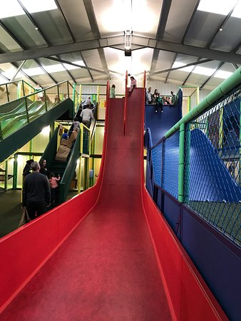 Awesome Slide With A 3m Vertical Drop Great Fun Picture Of Chobham Adventure Farm Tripadvisor