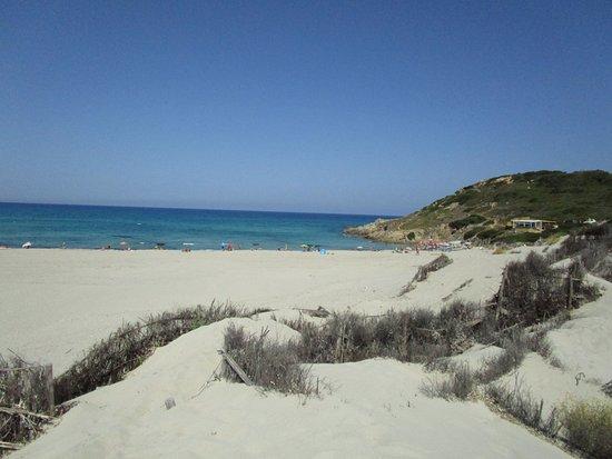 spiaggia rena majore spiaggia vista dalle dune di rena maiore
