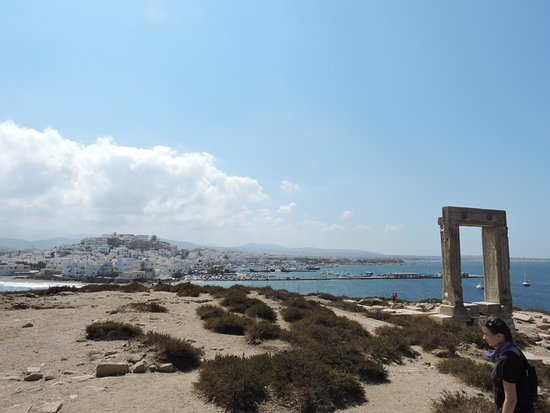 View of Naxos town from Portara