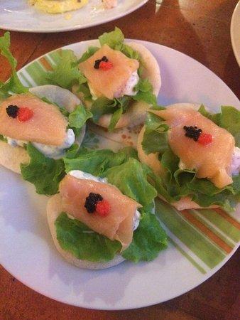 La Tasca de Banos: Salmon Bites dish