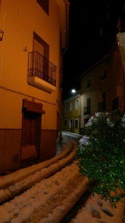 Villa de Biar Hotel: Outside the hotels front door... fantastic atmosphere....