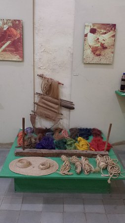 Santa Elena, Mexique : part of the sisal display
