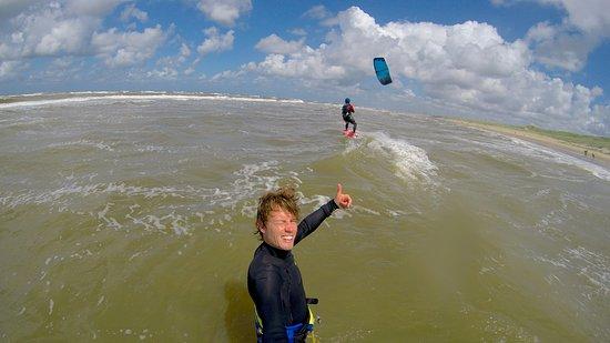 Bloemendaal, Niederlande: Kite les