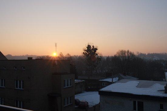 Wodzislaw Slaski, Polonya: Wschód słońca widziany z balkonu.