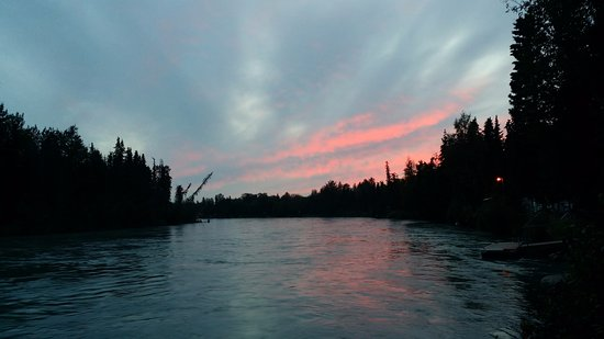 Kenai Riverfront Resort, Inc.: Beautiful Kenai River sunsets await!