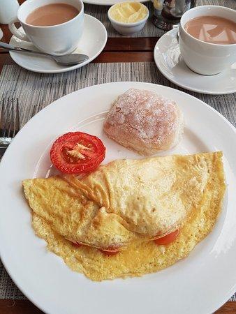 Vineyard Hotel: Delicious omelette.