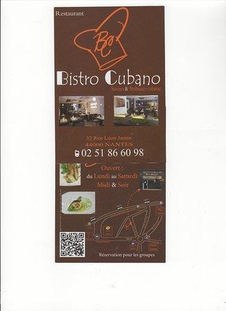 Bistro Cubano : Carte Café Cubano