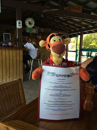 Spanish Town, Virgin Gorda: The menu