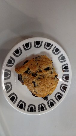 Round Lake, NY: Homemade blueberry scone