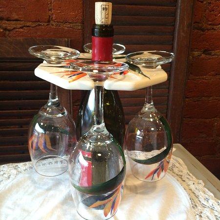 Warrenton, VA: hand painted glassware