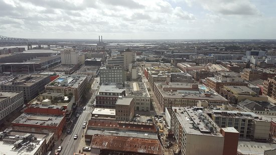Loews New Orleans Hotel: Right side window view from Room 2114 (daytime)