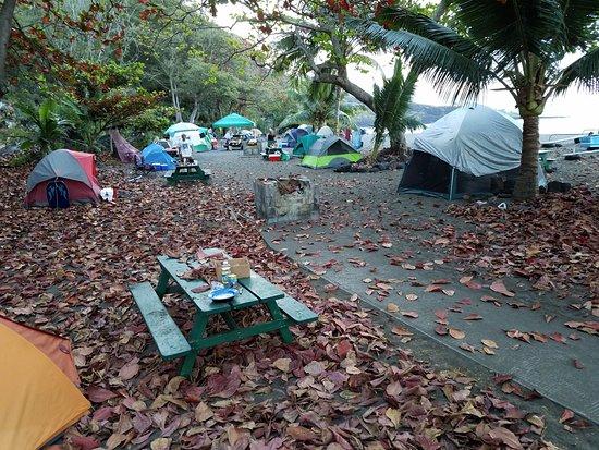 Ho`okena Beach Park: Morning at campground