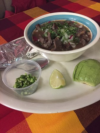 Elgin, Carolina del Sur: Carne en su jugo (Steak and Bean Soup)