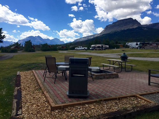 Saint Mary, MT: Our new patio RV sites