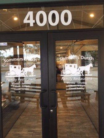 Sommers Dutch Family Restaurant Front Door