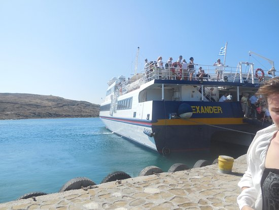 Agia Anna, Greece: Disembarking from Alexander in harbour of Delos