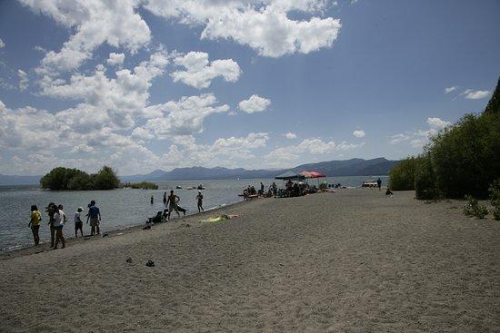 Redfish Outlet Lake : Und auch noch einen schönen Strand!