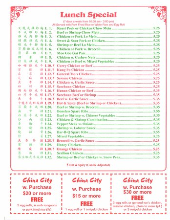 Thomasville, NC: Menu Page 4, January 2017