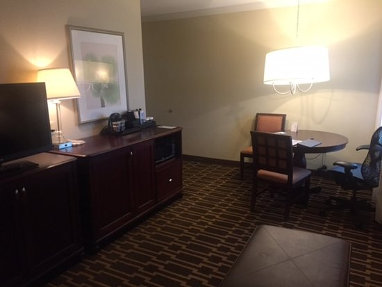 Embassy Suites by Hilton Tampa - Downtown Convention Center: Notice the hanging lamp that looks like it is about to fall down
