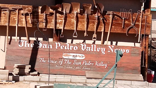 Benson, AZ: Various shovels and picks used in mining.