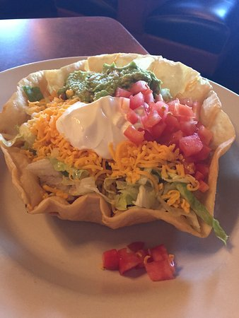 Columbus, TX: chicken taco salad
