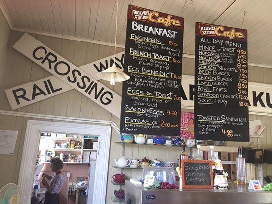 Railway station cafe - menu