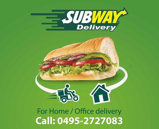 Subway Restaurant: We Also Deliver Orders