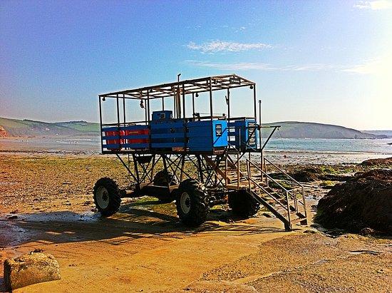 The Pilchard Inn: Taxi! All aboard for Burgh Island...