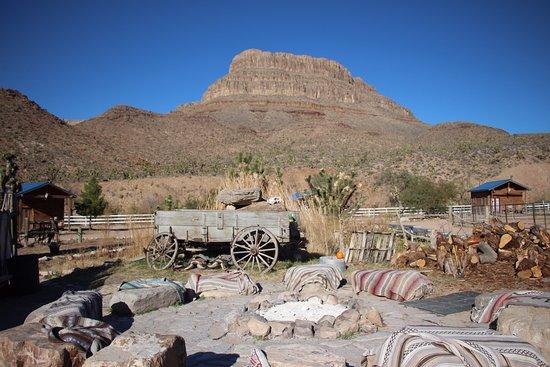 Meadview, AZ: Fire Pit by Day