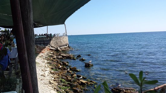 Kavarna, Bulgaria: the view from our table