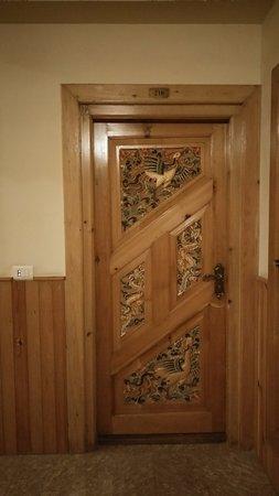 Wooden door to my room - Picture of Namgay Heritage Hotel