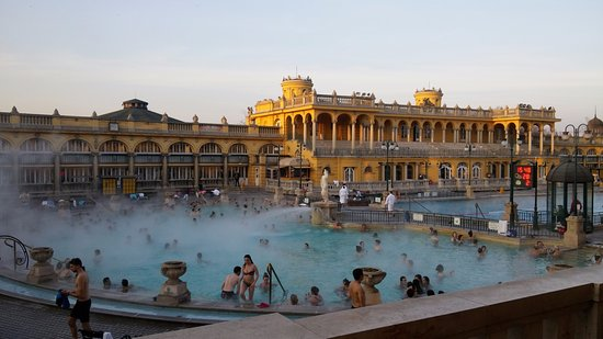 piscine esterne - Foto di Széchenyi Baths and Pool, Budapest ...