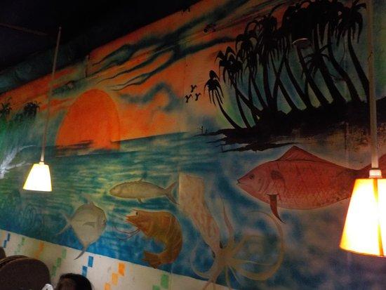 Anjuna, India: Wall painting