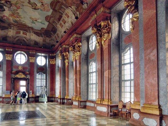 Melk, Austria: Blick in den Marmorsaal