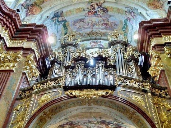 Melk, Austria: Blick zur Orgelempore