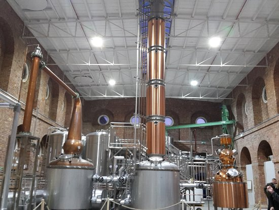 Chatham, UK: open space of the distillery