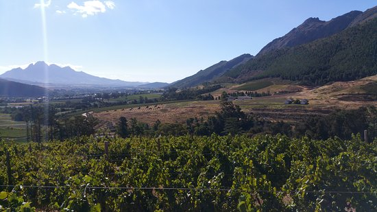 Franschhoek, Sør-Afrika: View from Dio Donne