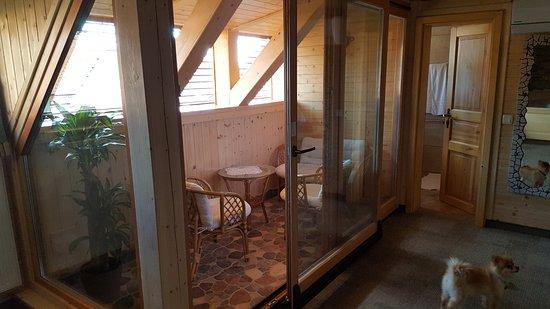 Penzion Berc: Balcony in the double room.