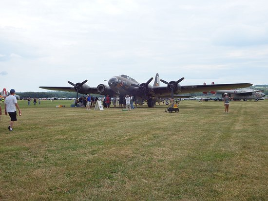 THE MOVIE MEMPHIS BELLE B-17 on display during the 2016 Geneseo Air Show.