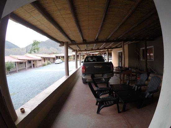 Mirador del Virrey, Cabanas Boutique: Vista da garagem