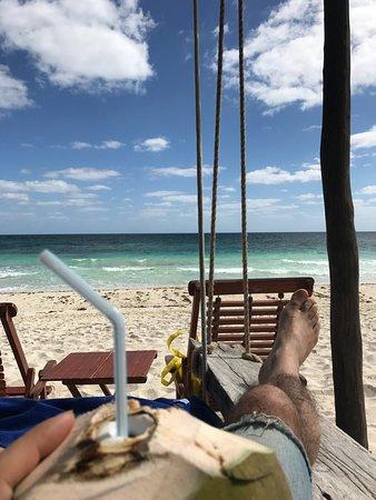 Nueva Vida de Ramiro: Coconut on the beach.
