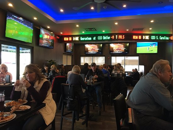 Victor, NY: City Tavern - big screen TVs in bar area