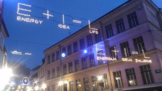 Christmas in Ljubljana 2016 (Taken from outside the Hotel Galleria).