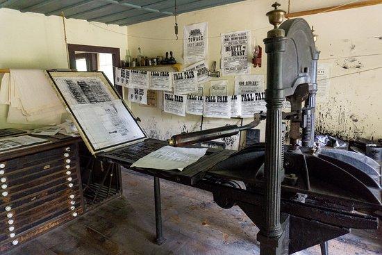 Morrisburg, Canadá: L'imprimerie -