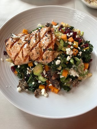 Simsbury, CT: Fall Harvest salad with Salmon