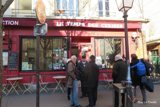Le Temps des Cerises : la façade du restaurant