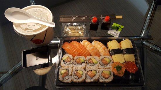 Sushi Box - Restaurant Japonais: Sushi menu I with the Miso soup as Take away!