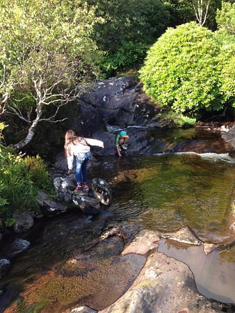 Kenmare, Ireland: Playing in the streams.