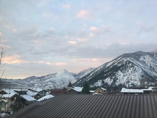 Bavarian Lodge: Sunrise view from our room